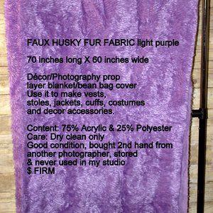 FAUX HUSKY FUR FABRIC light purple